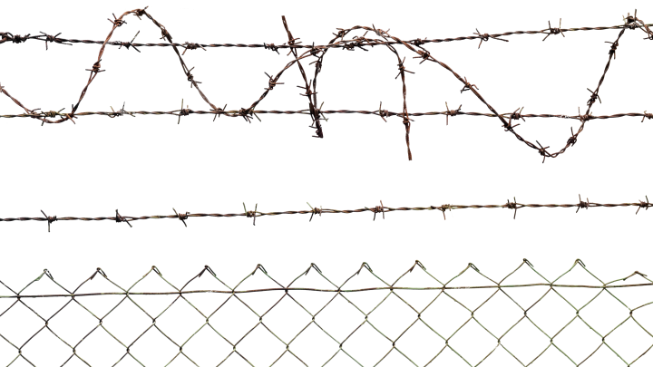 Barbed Wire Clipart Png: Barbed Wire Fence HD 7K