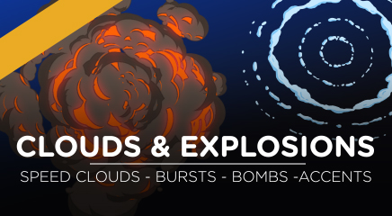 Toon clouds and explosions