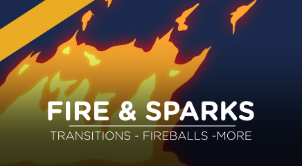 Toon fire and sparks